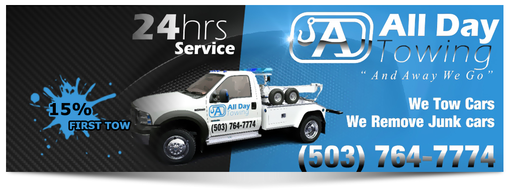 All Day Towing 24 hour service