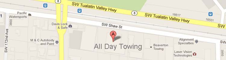 Find All Day Towing on Google Maps